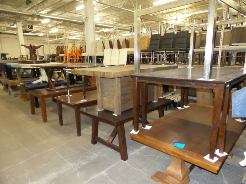 Wooden Tables and Chairs for Staging