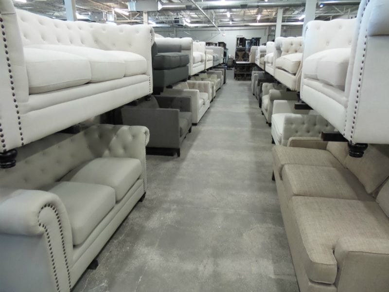 Aisle of Sofas and Couches